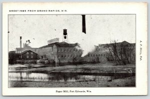 Port Edwards Wisconsin~Domtar Paper Mill~Water Tower~Now Hemp Drying Plant~c1910