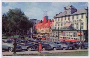 Place D'Armes Cars Bus Quebec City Canada 1950s postcard