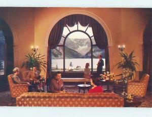 Unused Pre-1980 LOUNGE AT CHATEU LAKE LOUISE Banff Alberta AB o0184-22