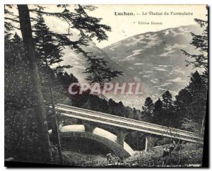 Old Postcard Luchon Viaduct Funicular