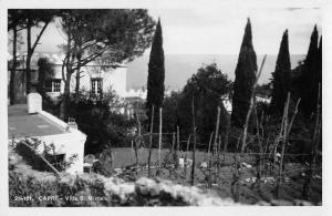 Capri Italy Villa S Michele Real Photo Antique Postcard J45444