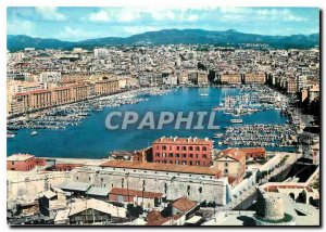 Modern Postcard Marseille Panorama Harbor