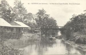 french guyana, CAYENNE Crique Fouilée Bridge (ca. 1899)