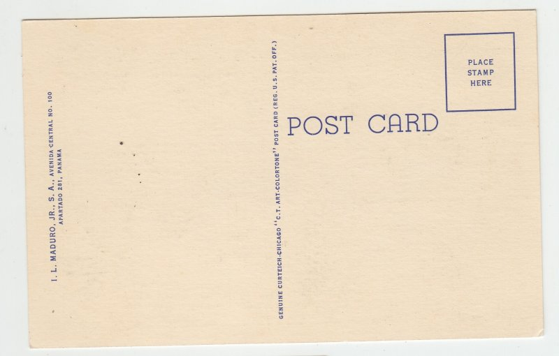 P1991, vintage postcard typhical dance of panama colorful women dresses unused