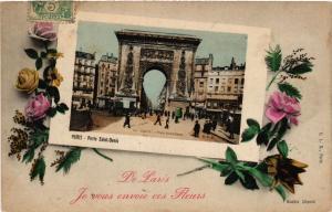 CPA Je vous envoie ces fleurs! de Paris (10e) - Porte St-Denis (300099)