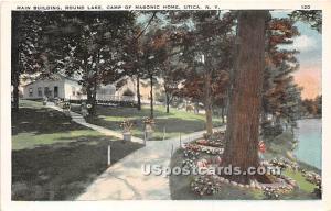 Round Lake, Camp of Masonic Home Utica NY Unused