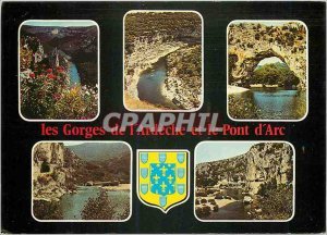 Postcard Modern Belles Images of Ardeche Gorges Ardeche and the Pont d'Arc