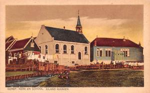 Eiland Marken Holland Geref Kerek en School Eiland Marken Geref Kerek en School