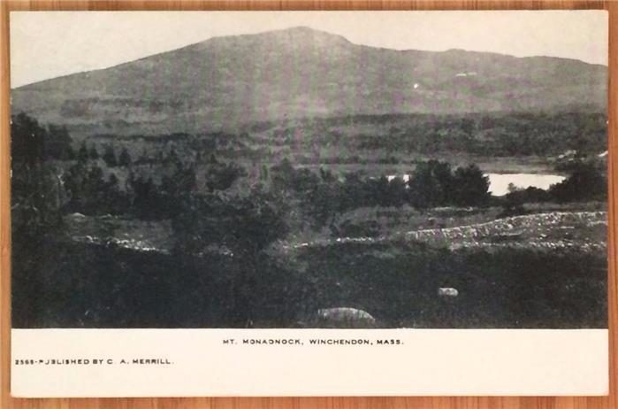 Mt. Monadnock, Winchendon, Mass. Undivided Back, Unposted