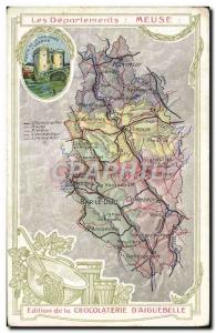 Postcard Old MAPS Chocolaterie d & # 39Aiguebelle Meuse Gate of Verdun floor