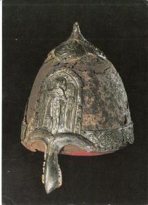 Moscow armoury postcard helmet bof prince Yaroslav Vsevolodovich Russia