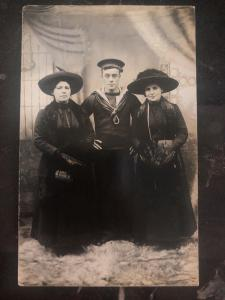 Mint USA RPPC Real Picture Postcard Family Photo