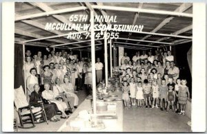 1955 Missouri RPPC Real Photo Postcard 65th Annual McCullah-Wesson Reunion
