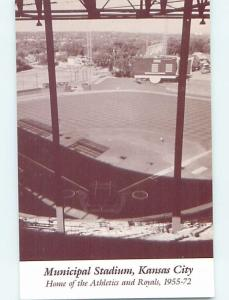 1980's Postcard PAST VIEW OF BASEBALL STADIUM Kansas City Missouri MO HM5119-22