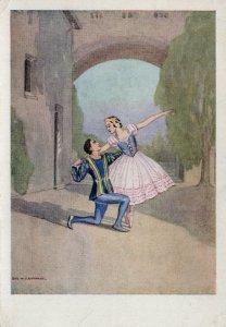 Janine Charrat Wladamir Seouratoff Romeo & Juliet Ballet Postcard