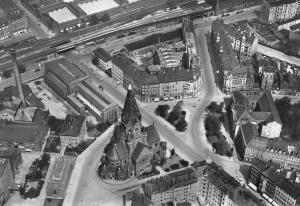 Dresden Wettiner Paltz Square La Place Eglise Church Airview