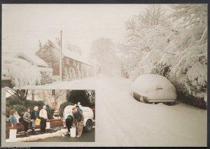 Leicestershire Postcard - The Blizzard, Main Street, Ravenstone, 1990 - EE648