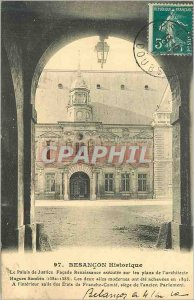 Old Postcard Besancon History The Courthouse