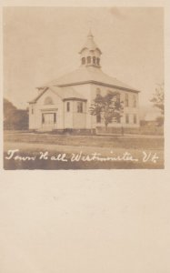 RP: WESTMINSTER , Vermont , 00-10s ; Town Hall