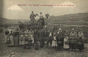 france, BEAUNE, La Paulée en Bourgogne ou Fin de la Vendange, Harvest (1910s)