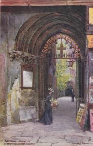 TUCK 6257: LONDON, England, 1900-10s; Gateway leading to St. Bartholomews Church