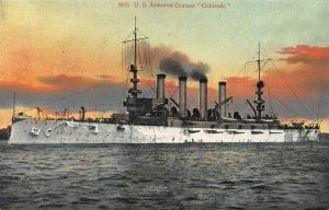 U.S. Armored Cruiser Colorado, Navy Ship, Early Postcard, Unused