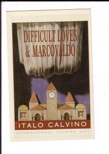 Difficult Loves & Marcovaldo, Italo Calvino, Novel Book, Advertising Postcard,