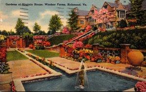 Virginia Richmond Windsor Farms Gardens Of Virginia House 1941