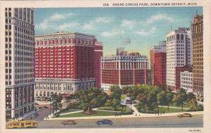 Michigan Detroit Grand Circus Park Downtown Detroit 1937