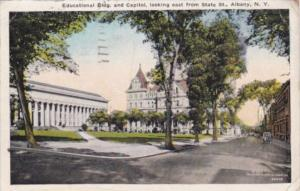 New York Albany Educational Building and Capitol 1926