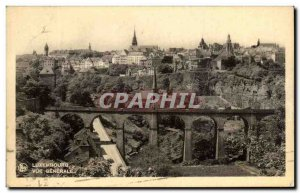 Postcard Old Luxembourg Vue Generale