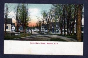 NH 1908 View N Main St MARLOW NEW HAMPSHIRE POSTCARD