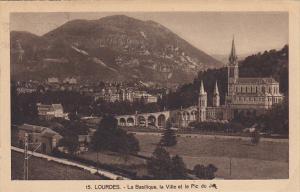 France Lourdes La Basilique la Ville et le Pic du Jer 1935