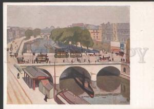 112135 Pont Saint-Michel by MARQUET Vintage russian 1935 PC