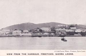 Sierra Leone The Harbour Africa Aerial Old Postcard