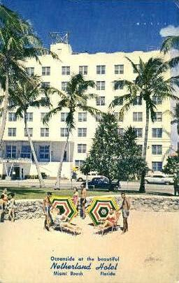 Netherland Hotel Miami Beach Fl 1967
