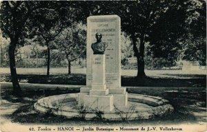 CPA AK VIETNAM Tonkin HANOI Jardin Botanique Monument de Vollenhoven (212672)