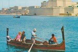 Malta Water Maltas Boat Taxi Tourist Trip Postcard