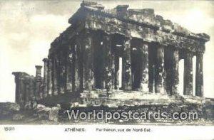 Parthenon, vue de Nord Est Athenes Greece Unused