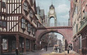 CHESTER, Cheshire, England, 1900-1910's; Eastgate Street, Horse Carriage