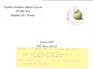 US #4729  Granny Smith Apple.  Invitation to attend Church - Bagdad
