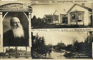 new zealand, ROTORUA, Brent's Bathgate House, Sanatorium Gardens (1910s) RPPC