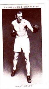 Churchman Cigarette Card Boxing Personalities No 38 Billy Wells