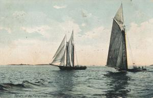 Return of the Fisherman - Fishing Sailboats - Maine - pm 1907 - UDB