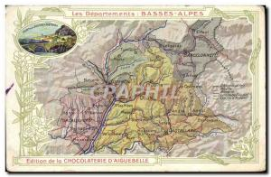 Old Postcard geographical maps of Chocolaterie & # 39Aiguebelle Lower Alps Si...