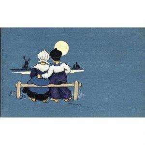 C.W. Faulkner & Co. Ethel Parkinson Artist Signed Postcard