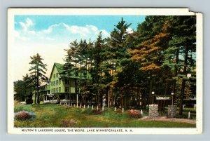 Lake Winnipesaukee NH-New Hampshire Milton's Lakeside House Vintage Postcard