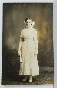 Rppc Lake Ida Norman Co Minnesota Marie Bertine Hilmo b1899 d1934 Postcard O4