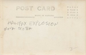 RP: HALIFAX , Nova Scotia , 1910s ; Explosion damage to window , St Paul's Churc
