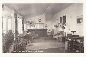 RP:  Lounge , Seaside Inn , MOLOKAI ,  Hawaii , 1930-40s